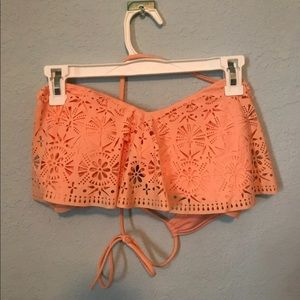 Coral bathing suit top